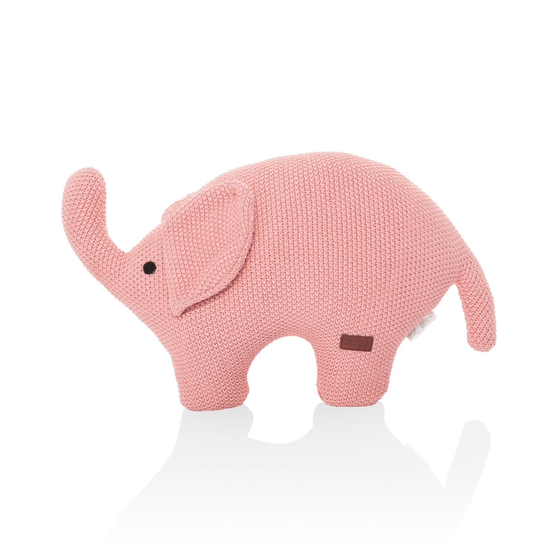 Pletená hračka Slon, Pink
