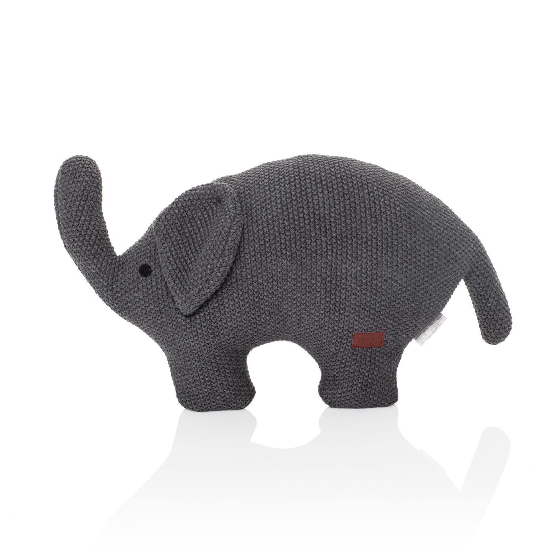 Pletená hračka Slon, Dark grey