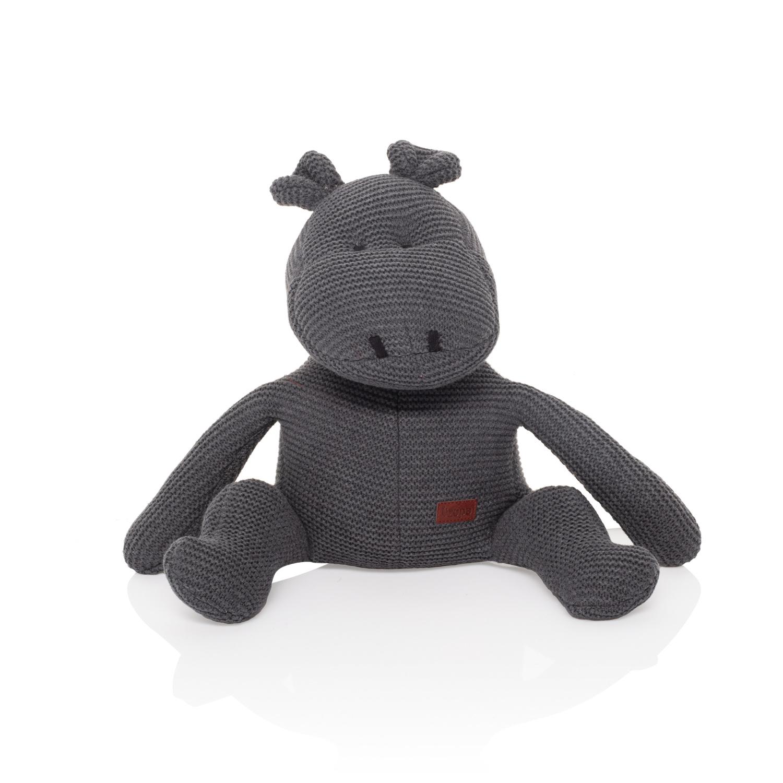 Pletená hračka Hroch, Dark Grey