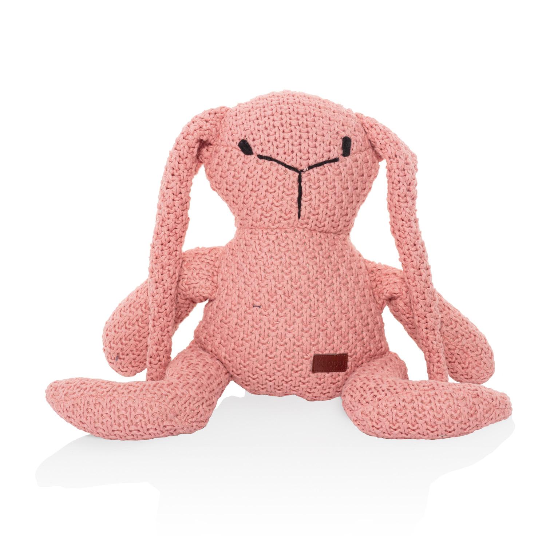 Pletená hračka Zajíc, Pink