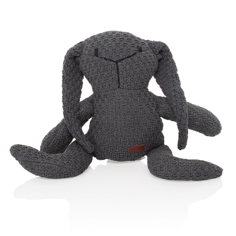 Pletená hračka Zajíc, Dark grey